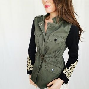 Sanctuary Anorak/Military embroidered jacket-B7